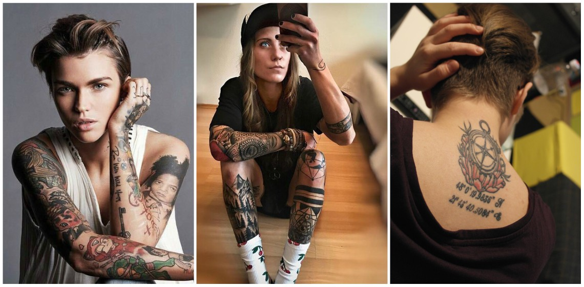 Lesbians with tattoos